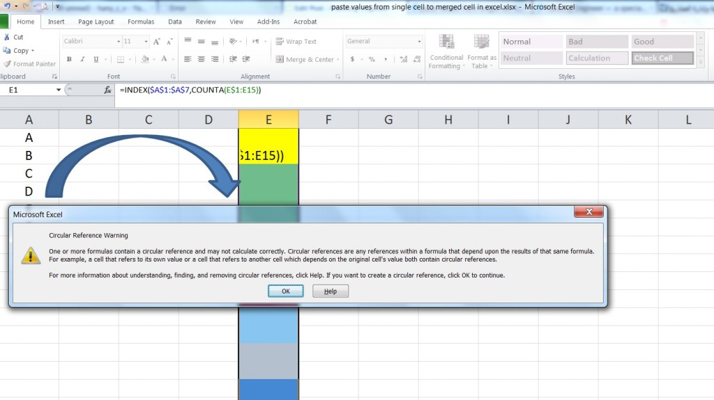 copy paste from pdf to excel