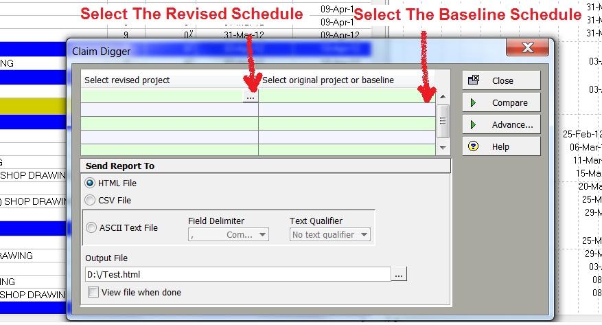 Revised Schedule V.S Baseline Schedule
