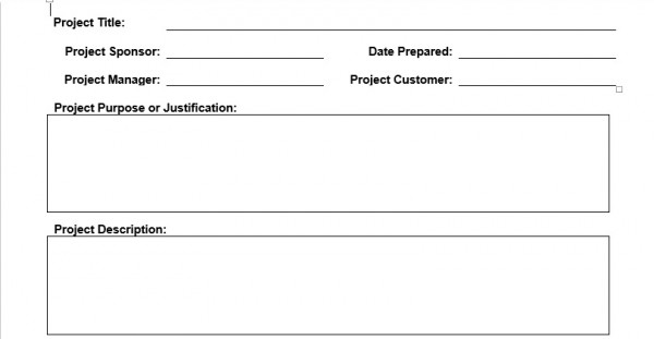 Project Charter Template – Planning Engineer Est.