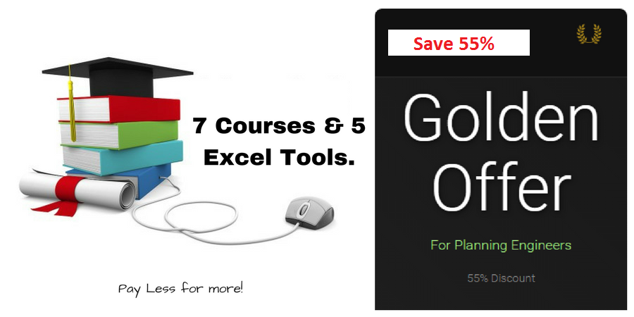 Planning-Engineer-Golden-Package-5-Courses-and-7-Excel-tools