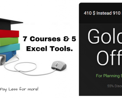 Golden Package Courses- 7 Courses & 5 Excel Tools