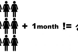 nine-women-one-month